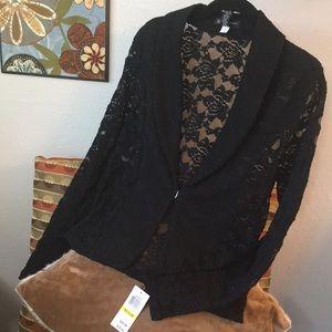 NWTS INConcepts Lace Black Blazer Amazing Floral M